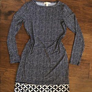 Michael Kors long sleeve patterned dress